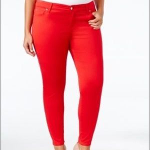 PLUS red skinny jeans
